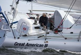 Great American II sailing off Marblehead MA