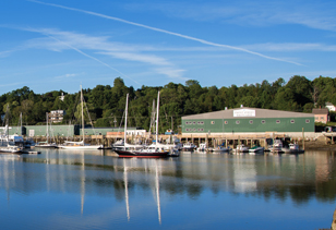 Front Street Shipyard in Belfast, Maine.
