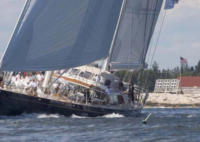 Scheherazade at the Shipyard Cup in Boothbay, Maine.