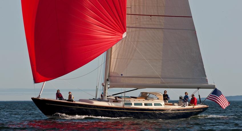 Morris 52 sailing off South West Hbr, Maine.